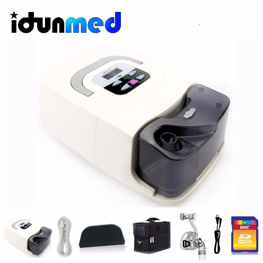 BMC GI CPAP Machine Untuk Sleep Apnea Obstruktif Dengan Humidifier / Nasal Mask (Besar) / Tutup Kepala / Filter / Selang Bag Berhenti Mendengkur Untuk Digunakan Di Rumah