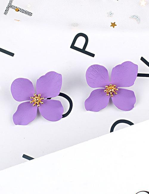 LRC Anting Tusuk Fashion Flower Shape Decorated Earrings