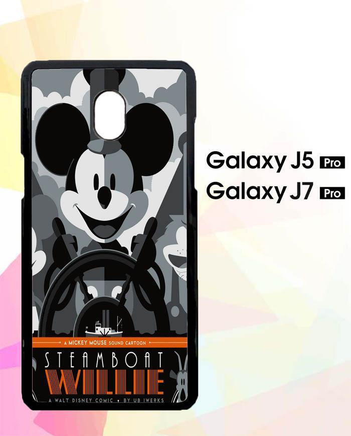 Custom Hardcase Samsung Galaxy J7 Plus Steamboat Disney Mickey Mouse Z0214 Case Cover