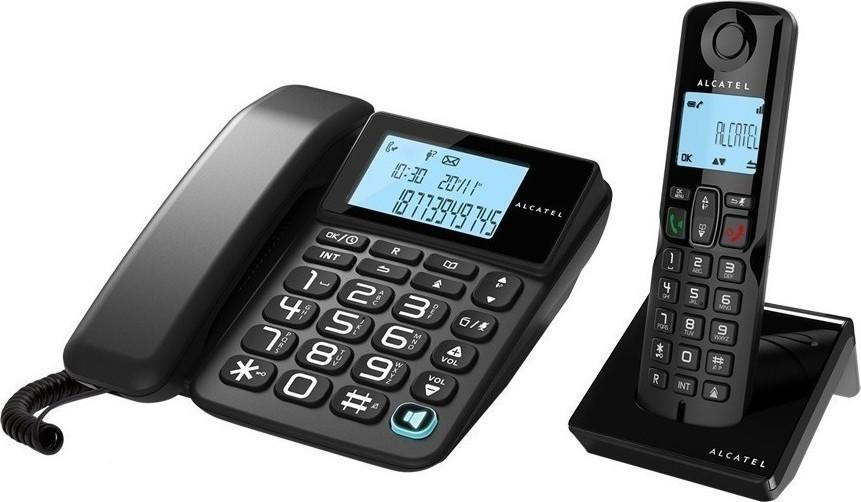 Alcatel telepon telephone S250 combo - hitam