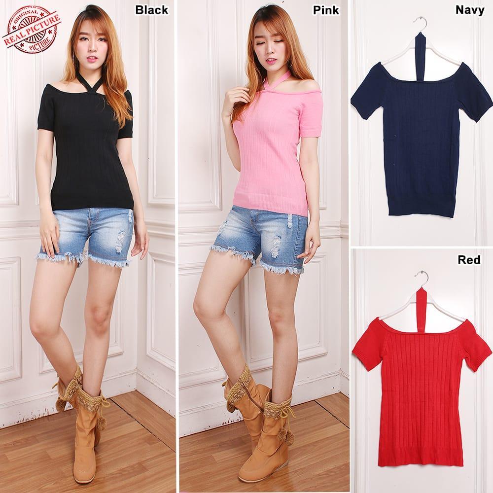 ... Atasan Blouse Kemeja Jeans Wanita Jumbo Vita Biru Muda5 Daftar Source Glow Fashion Atasan blouse kemeja