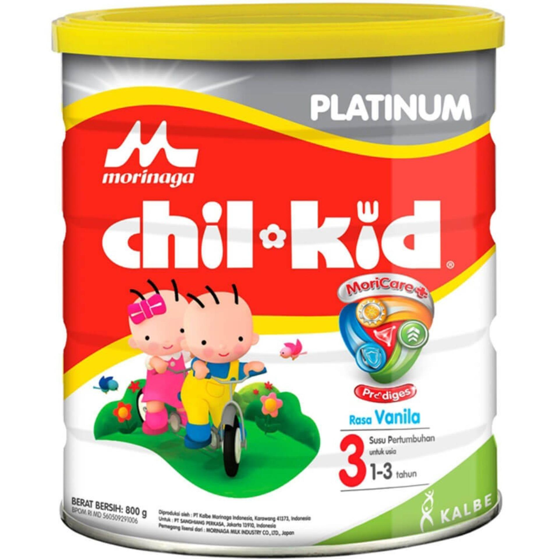 Milk Formula Morinaga Chil Go Vanilla 6x140 Ml  Free 2 Botol Kid Platinum Moricare Vanila 800gr