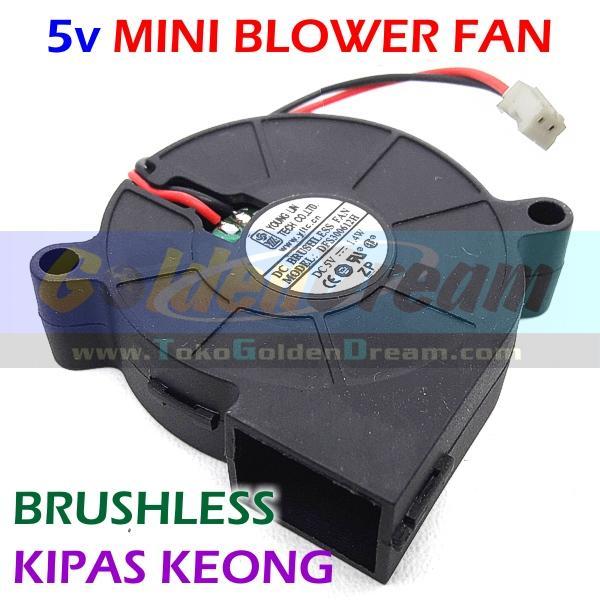 5v Mini Blower Fan Kipas Keong Brushless DC Angin Cooling Turbo Cooler Genzatronik