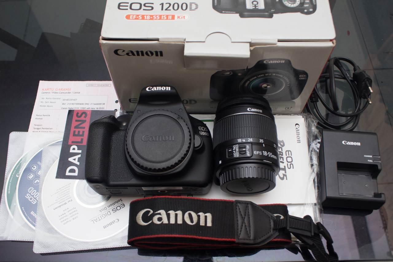 Kamera Canon EOS 1200D Kit 18-55 III - 18MP - Hitam Beli 2 Gratis 1
