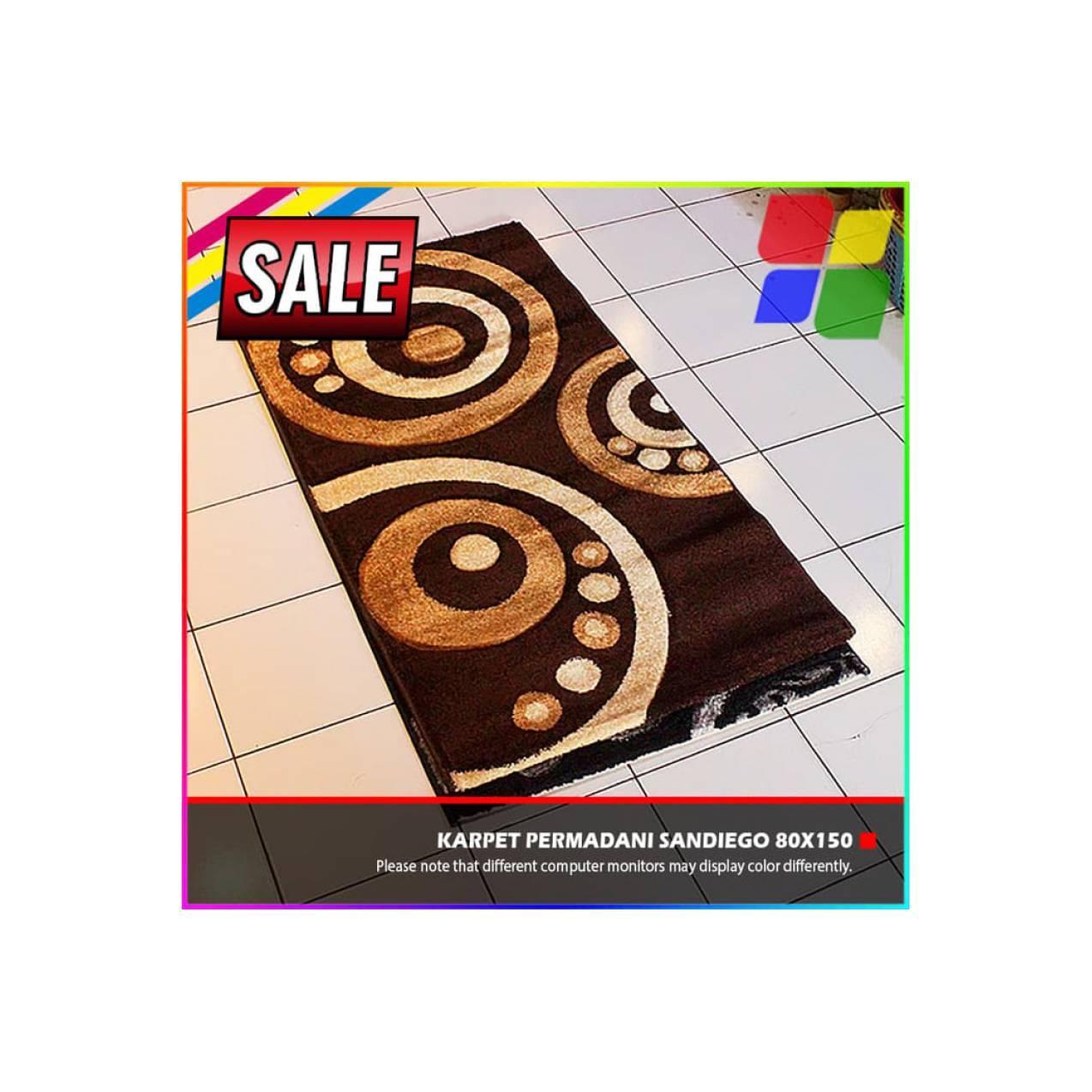 PROMO Karpet Permadani Import Sandiego 80x150cm Dekorasi Rumah Murah