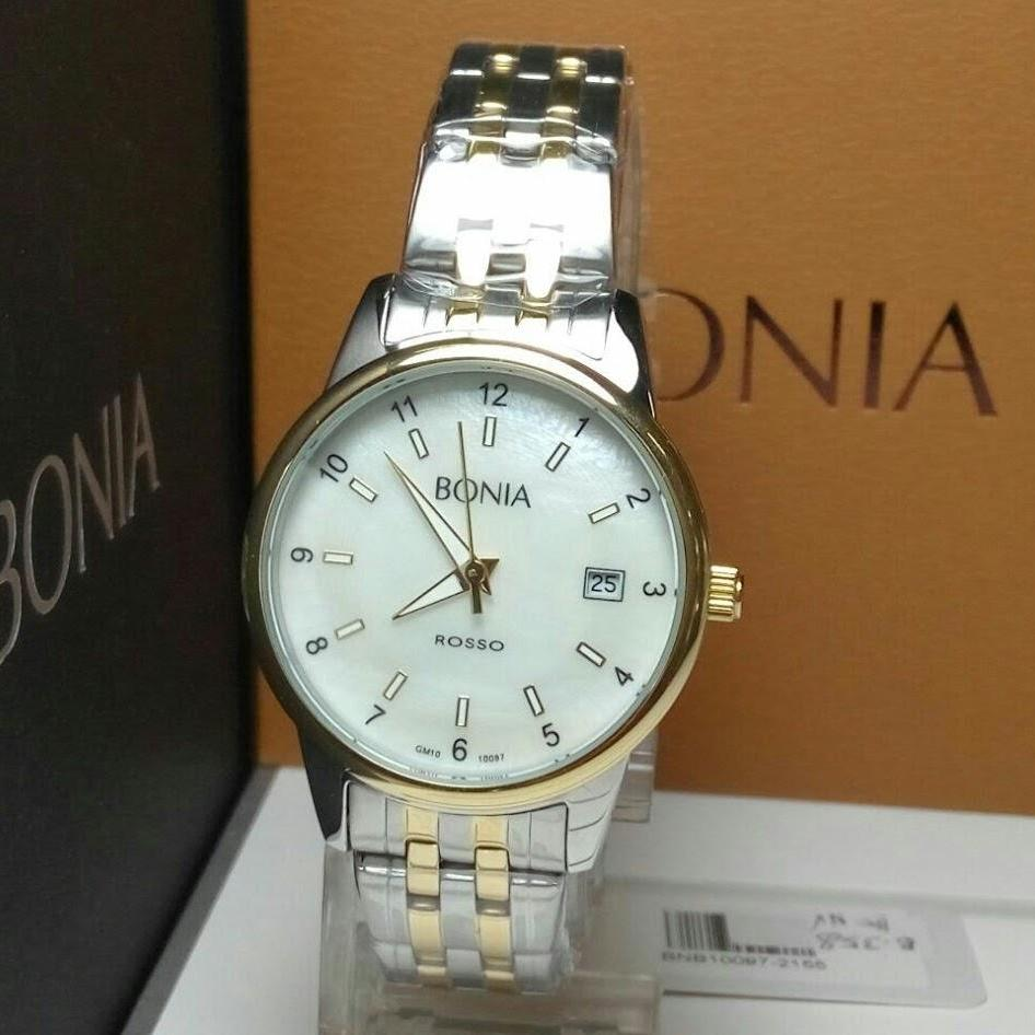 Buy Sell Cheapest Bonia Rosso Bnb10277 Best Quality Product Deals Jam Tangan Pria B10098 1352 Silver Wanita Bnb10097 2155 Gold Stainless Steel Dial Grey