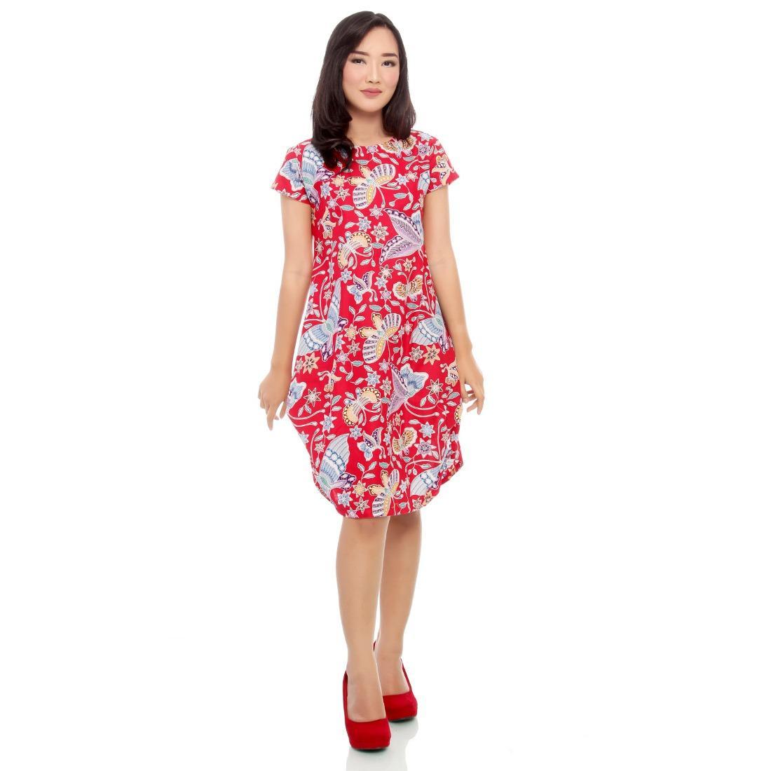 Batik Anggoen - Dress Batik 080 - CB 278 Merah