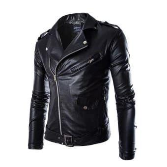 Rey jaket semi kulit rock n roll f227583740