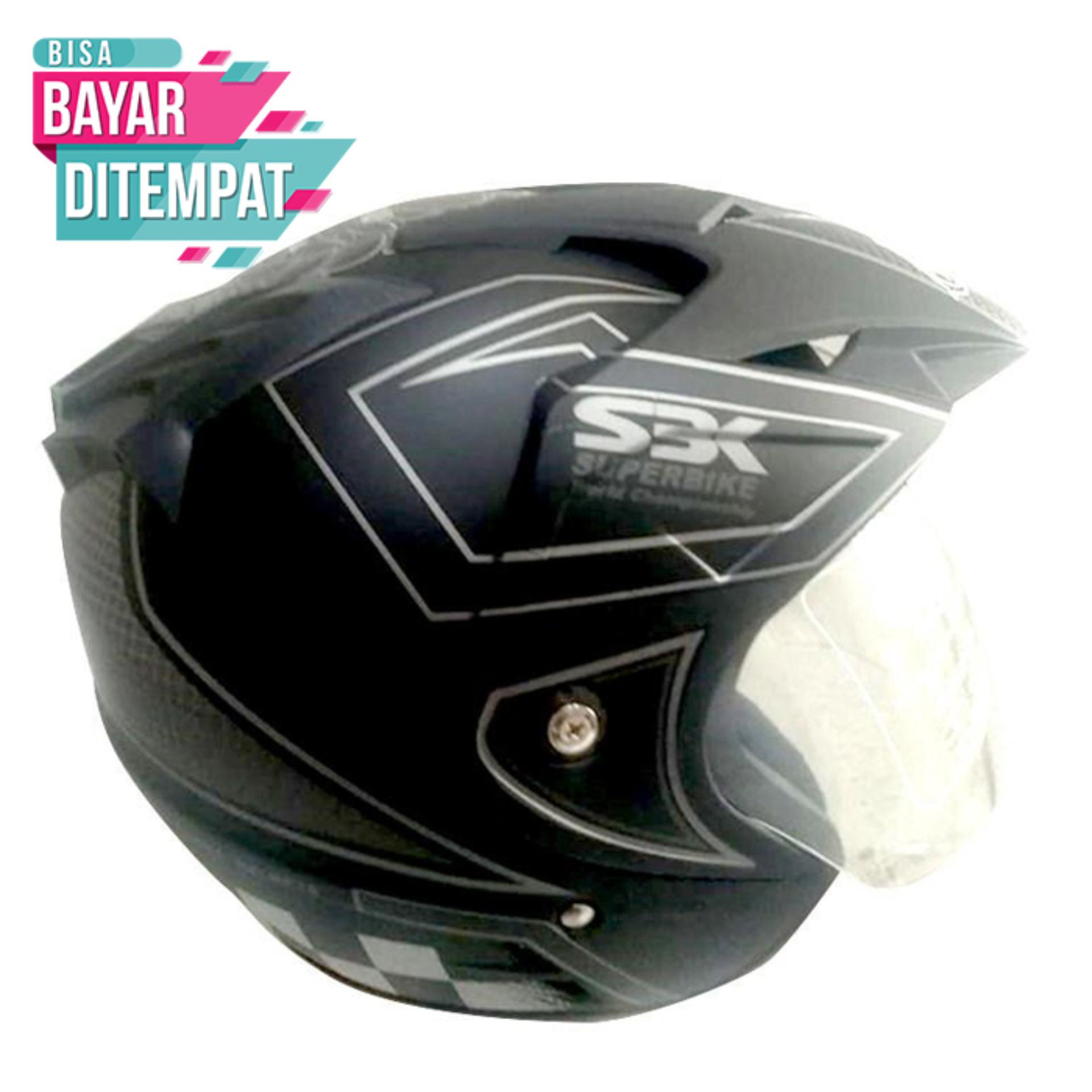 [Promo Best Seller] Helm Double Visor BXP Motif Moto GP 2 Kaca - Black Grey Kualitas Setara Helm KYT INK GM WTO MSR BMC NHK