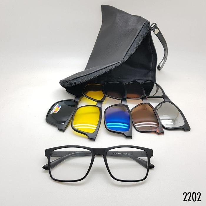 Terbaru!! Kacamata Rayban Clip On 5 Lensa 2202 - ready stock