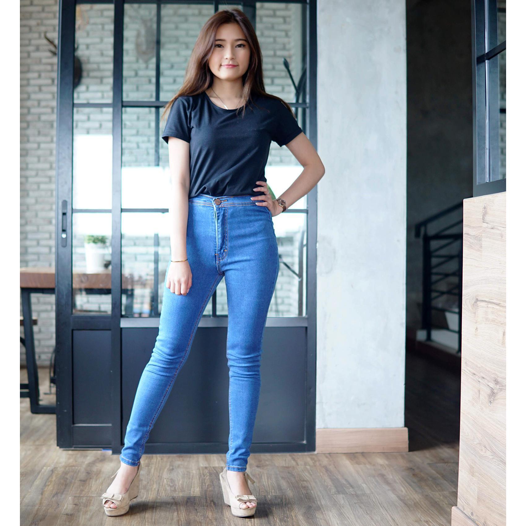 Labelledesign MASTER JEANS celana jeans highwaist wanita BAGUS kwalitas premium PROMO