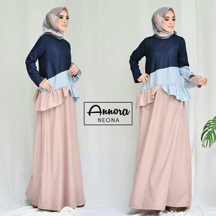 Beli Baju Original Annora Dress Balotely Gamis Muslim Modern Maxy