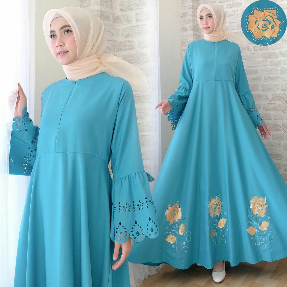 Snowshop Gamis Syari KaylaNew Colour - Baju Muslim / Fashion Wanita / Baju wanita / Baju Gamis / Busui / Gaun / Baloteli / XL / Jumbo / Syari