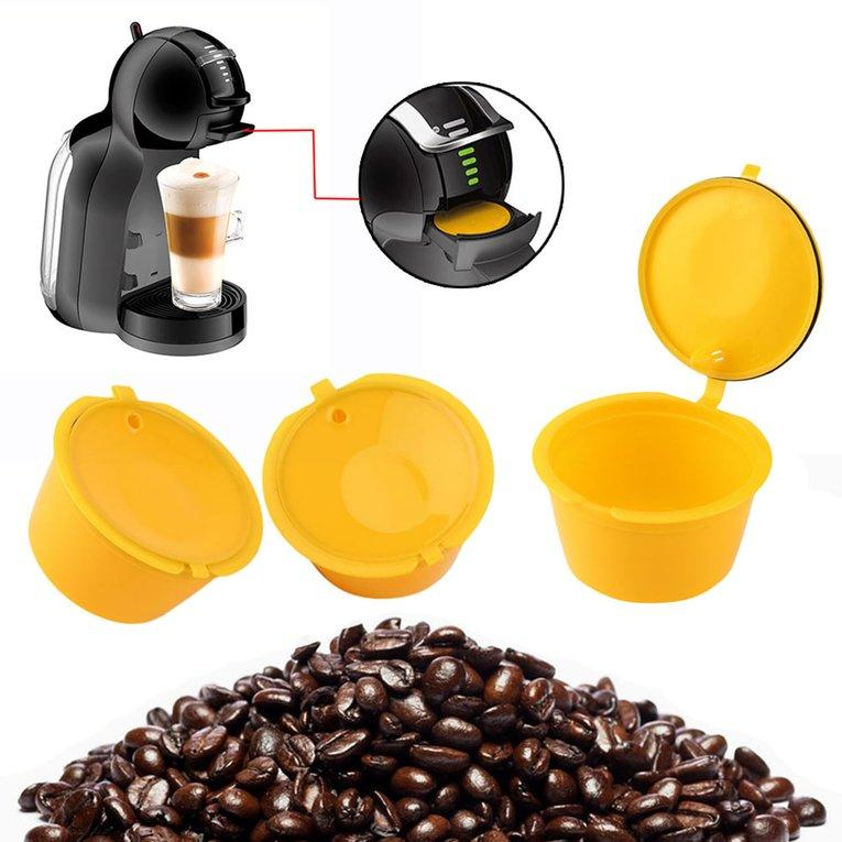 Jiehaosheng estore Reusable Capsule Coffee Filter Stainless Steel Mesh Coffee Basket Coffee Maker