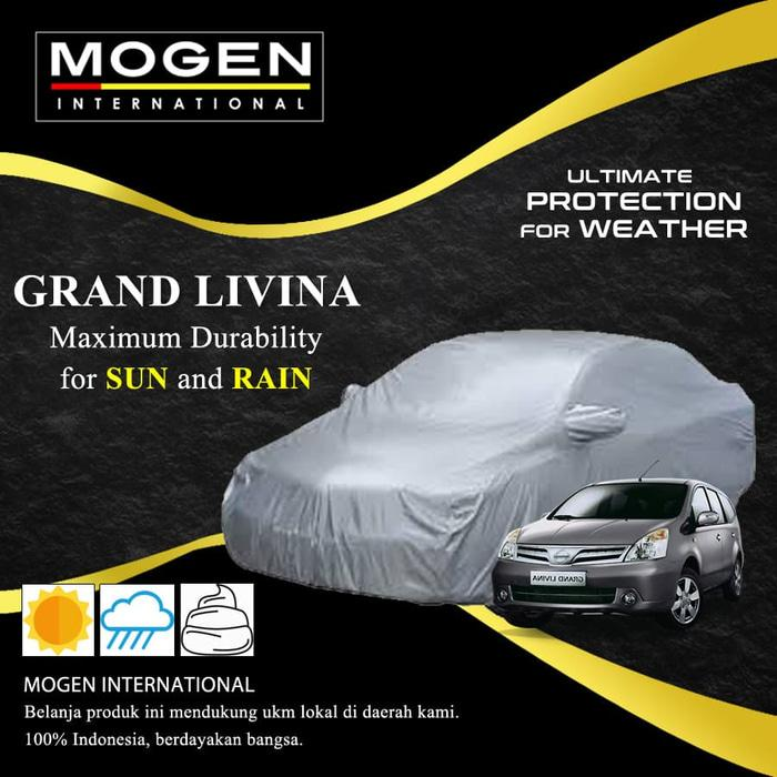 Cover Mobil / Body Cover GRAND LIVINA Waterproof / Sarung Mobil Silver