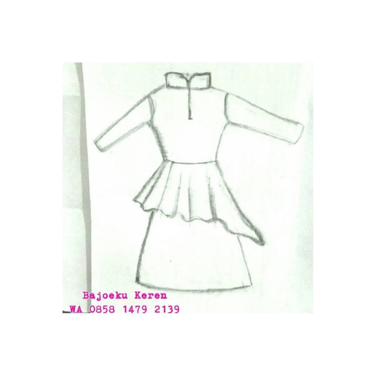 Jual Po Gamis Baju Muslim Kebaya Dress Blouse. Terima Jahit Free Bahan