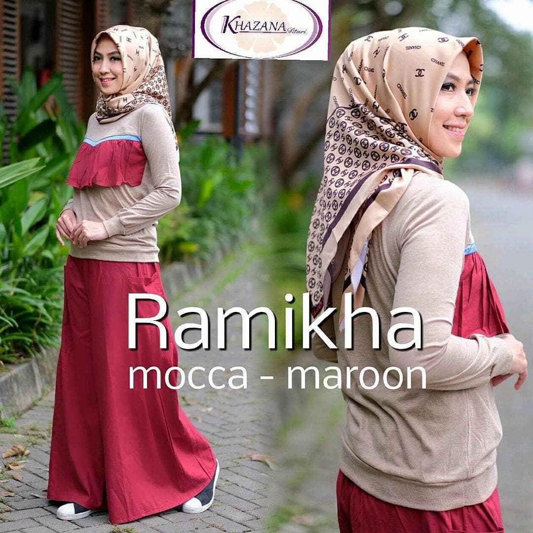 Harga Busana Muslim Syari Jumbo Terbaru Termurah Bulan November 2018 Wanita Gamis Baju Hijab Ramika Set Premium Muslimah Maxi