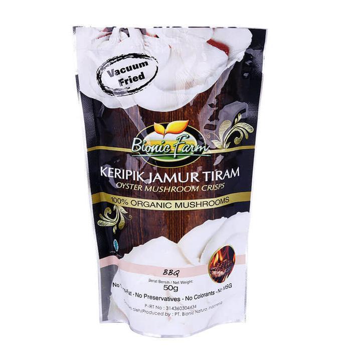 PROMO Bionic Farm Keripik Jamur Tiram - BBQ 50 Gr TERLARIS