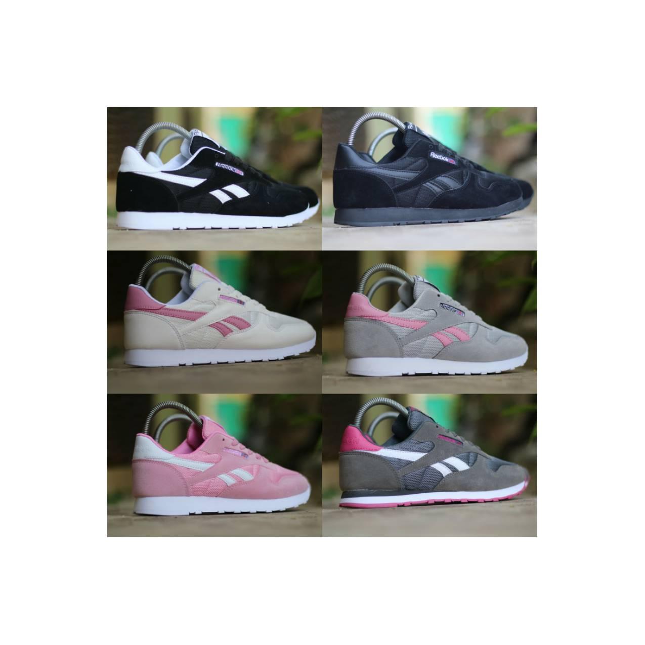 Reebok Classic size 36 - 40 sepatu wanita sneakers casual pink abu