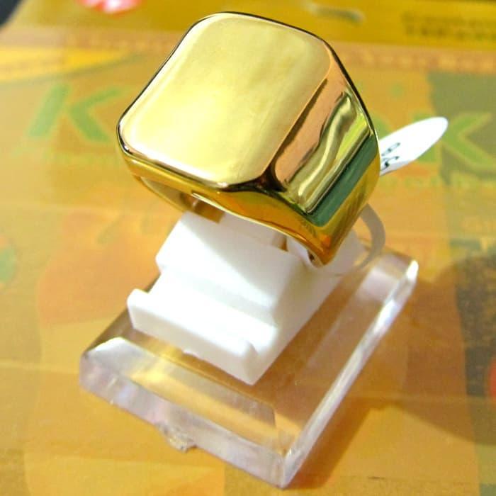 PROMO!!! Cincin Fashion Titanium Hq Polos Gold