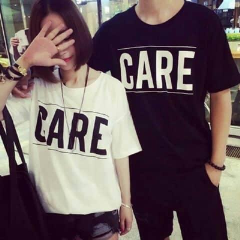 TJ.COLL - Kaos LENGAN PENDEK CP CARE HP -HARGA SUDAH DAPAT 2KAOS = ( PRIA L-WANITA M) KAOS MURAH HARGA GROSIRAN Busana Pasangan  Kaos Couple  Kaos Oblong  T-Shirt