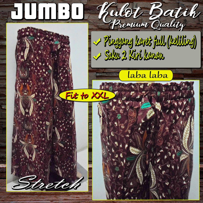 Celana Kulot Batik Jumbo - Katun Stretch High Quality - Laba laba
