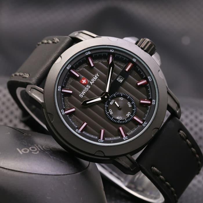 Jam Tangan LED - Jam Tangan Pria dan Wanita - Strap Karet - Hitam Silver -