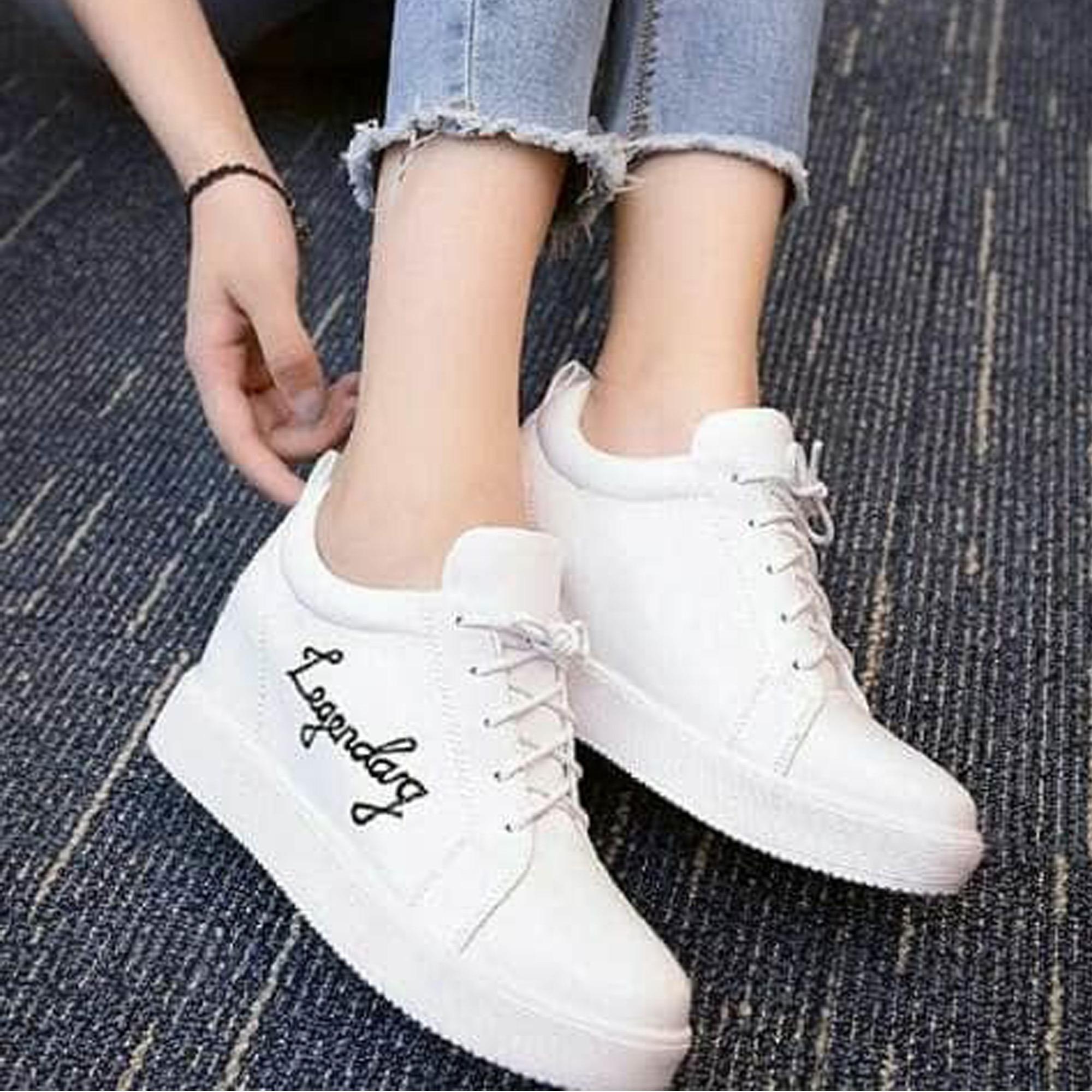 Femine - Sepatu Wanita Boots Legendary LG01 - Putih