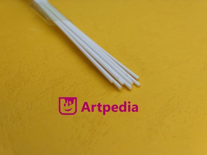 PROMO  MAKET Pipa Bulat Padat PVC / Diorama ABS Stick-Batang 1mm Length 50cm  TERLARIS