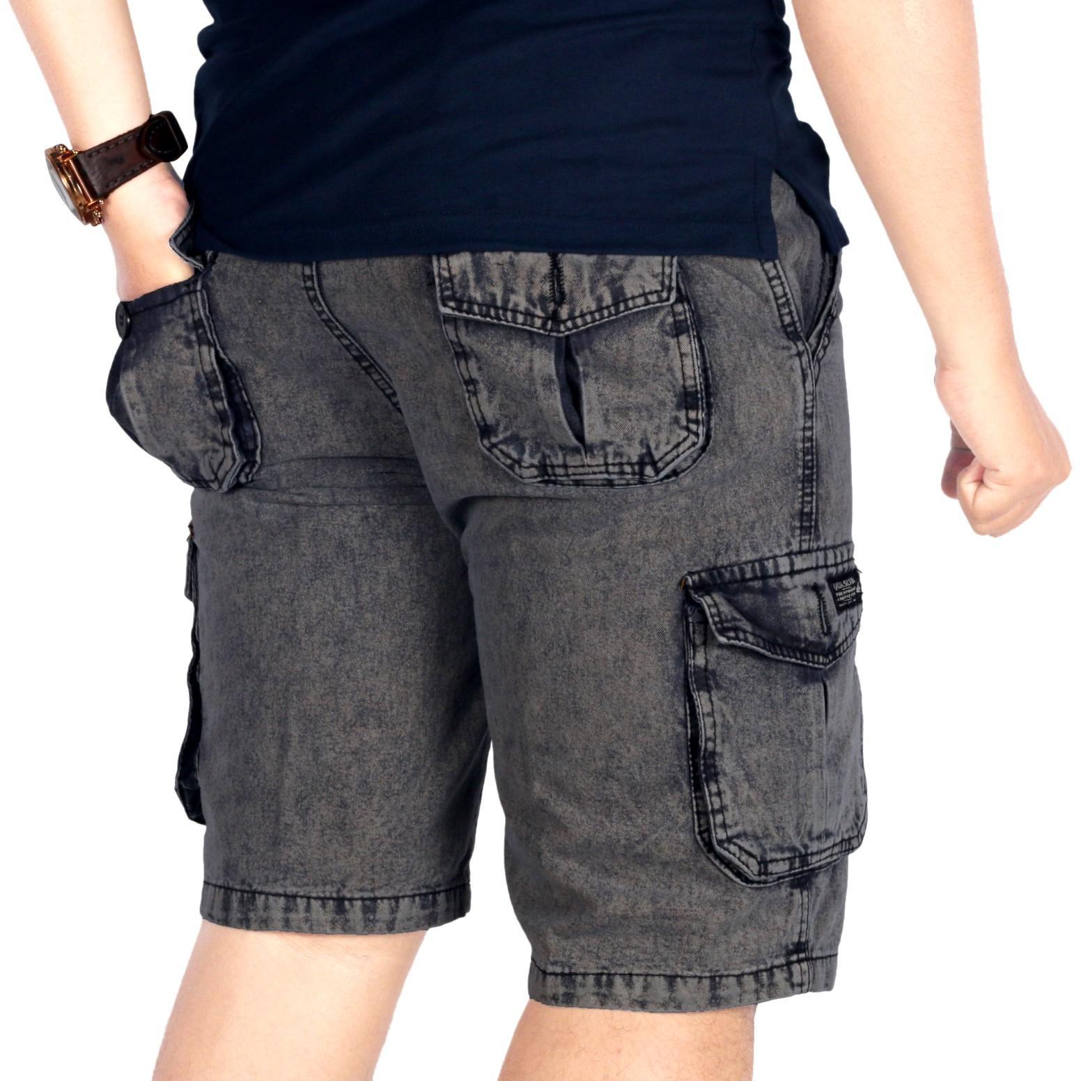 BSG Fashion1 Celana Pendek Polos Navy Distro  Celana Skinny Celana Pants Celana  Santai  922b0ffa28