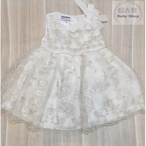 PROMO SALE - DRESS PESTA ANAK PEREMPUAN / DRESS PARTY BROKAT GOLD/ DRESS PESTA  F001