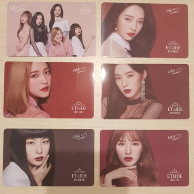 Etude House Red Velvet Photo Cards Variasi PC ~ Wendy
