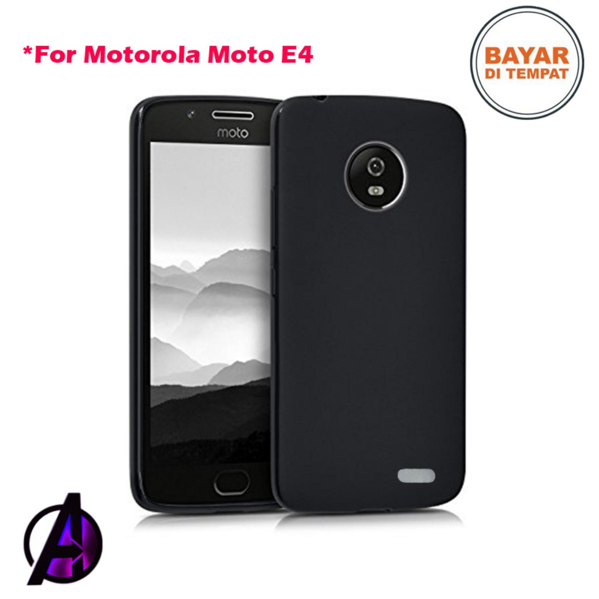 Case Black Matte Soft Slim Motorola Moto E4