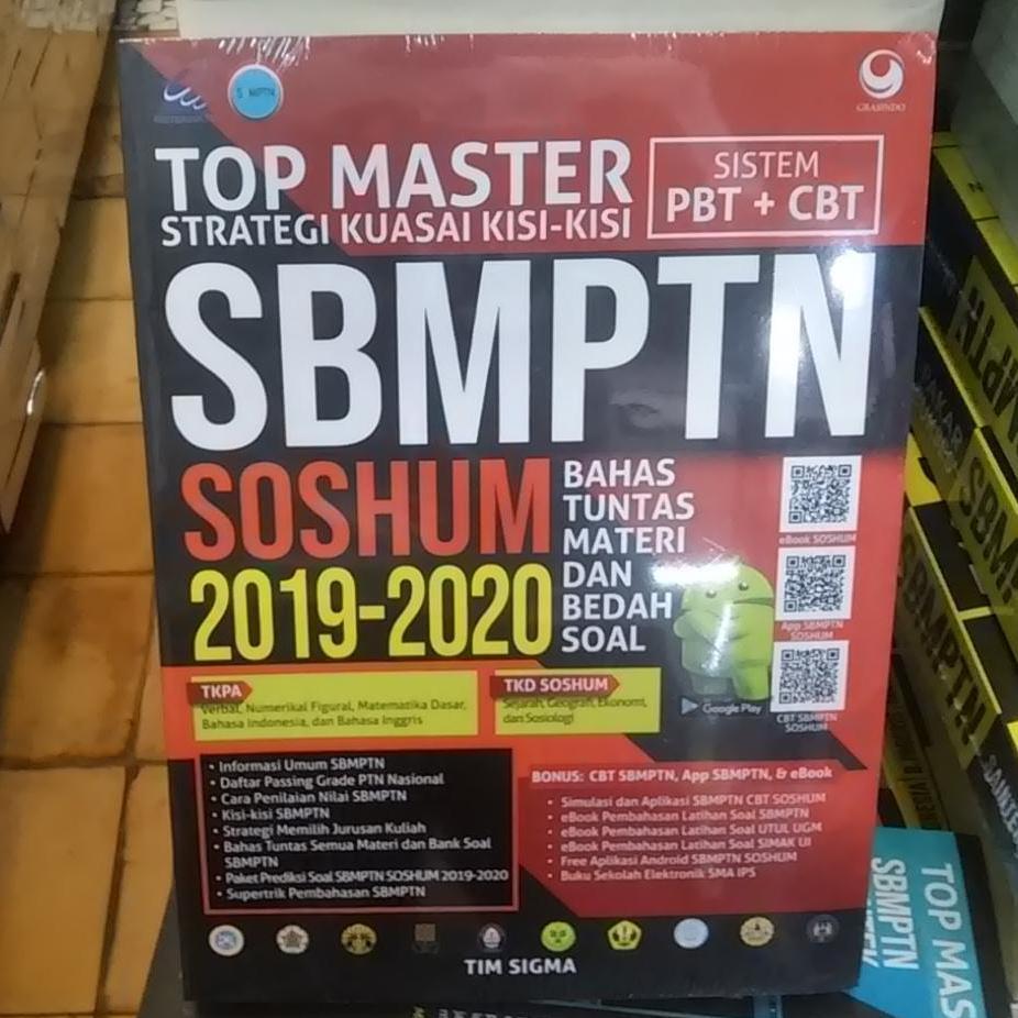 Buku Top Master Strategi Kuasai Kisi-Kisi SBMPTN SOSHUM 2019-2020 - Tim Sigma