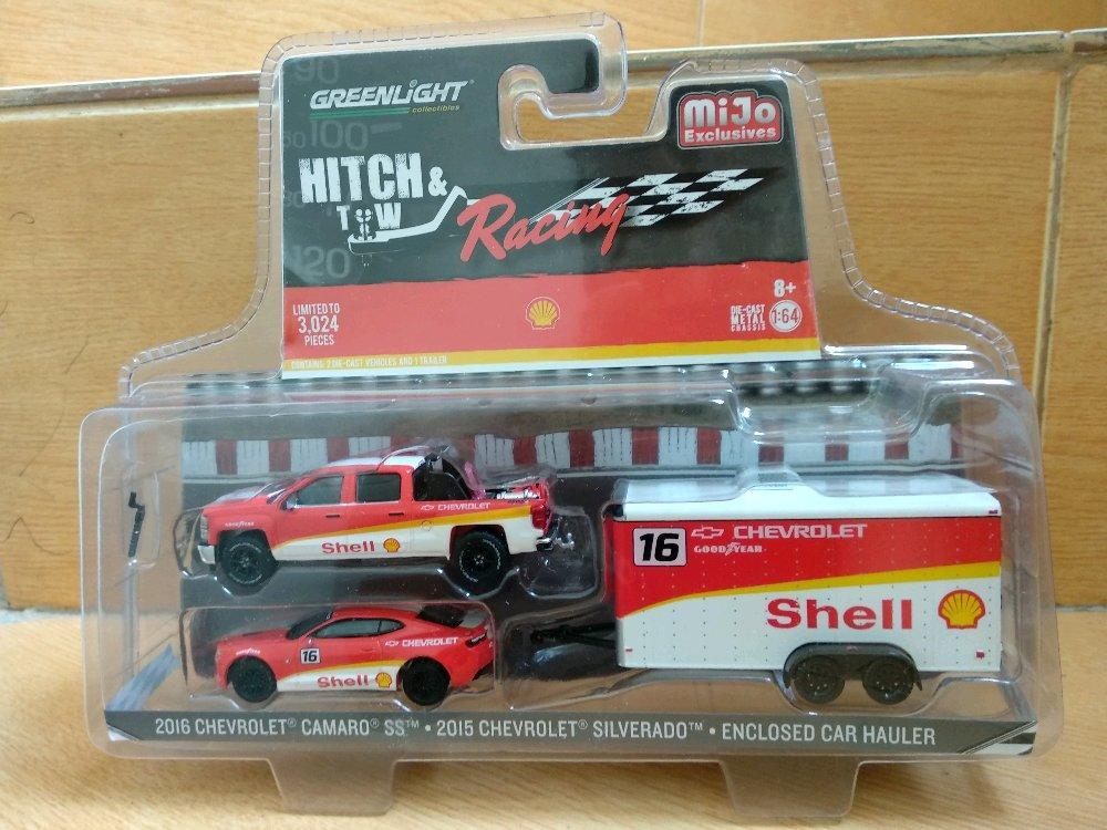 Chevrolet Silverado n Camaro with Hauler Shell Mijo Exclusive Greenlight # Favorit Toys favorit_toy
