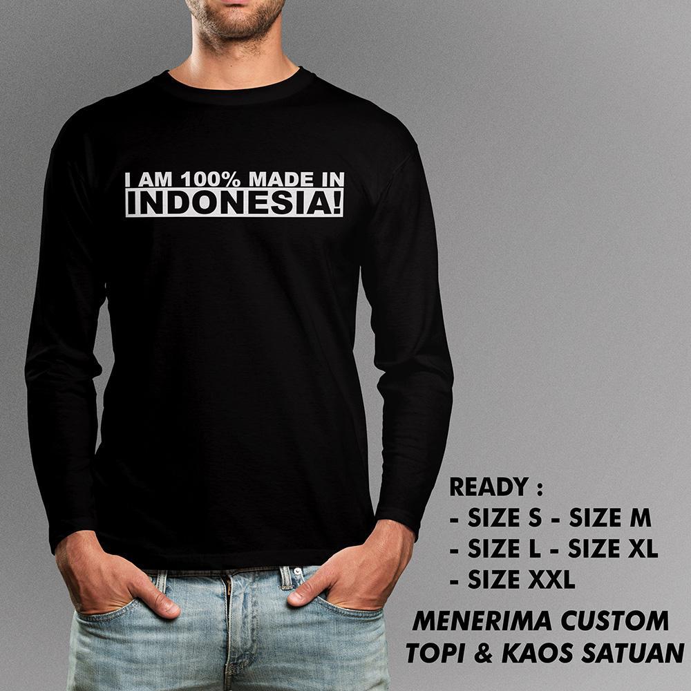 Kaos Made In Indonesia Tangan Panjang