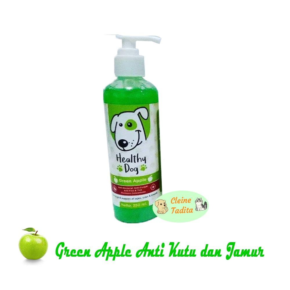 Cleine Tadita Petshop - Shampoo Concentrate Healthy Dog - Green Apple Anti Kutu Jamur By Cleine Tadita Petshop.