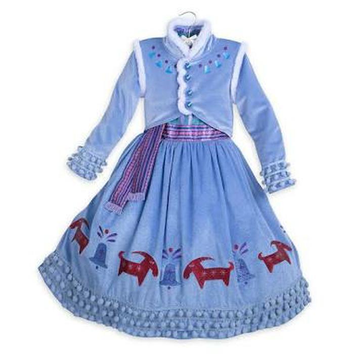 Kostum Frozen Anna Winter 2 - 7 Tahun / Gaun Pesta Anak