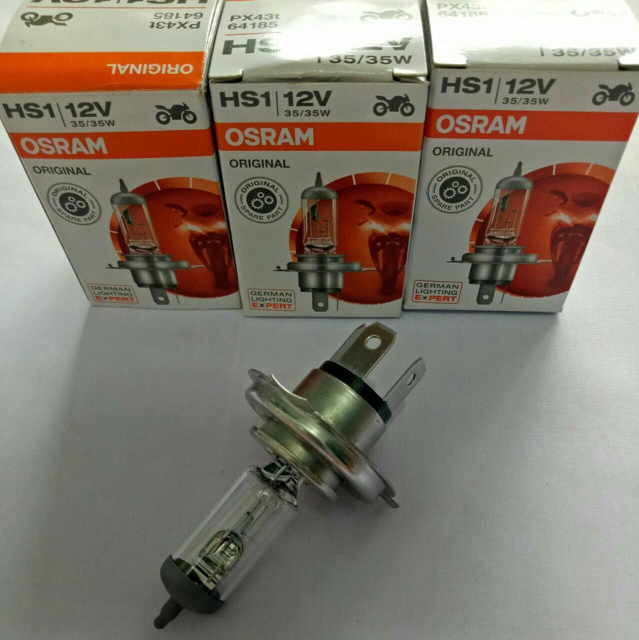 Jual Lampu Osram Terlengkap Termurah Depan Motor Yamaha Vixion Hs1 64185cb Cool Blue Gratis Sarung Tangan Bohlam Hologen 35 35w Standard