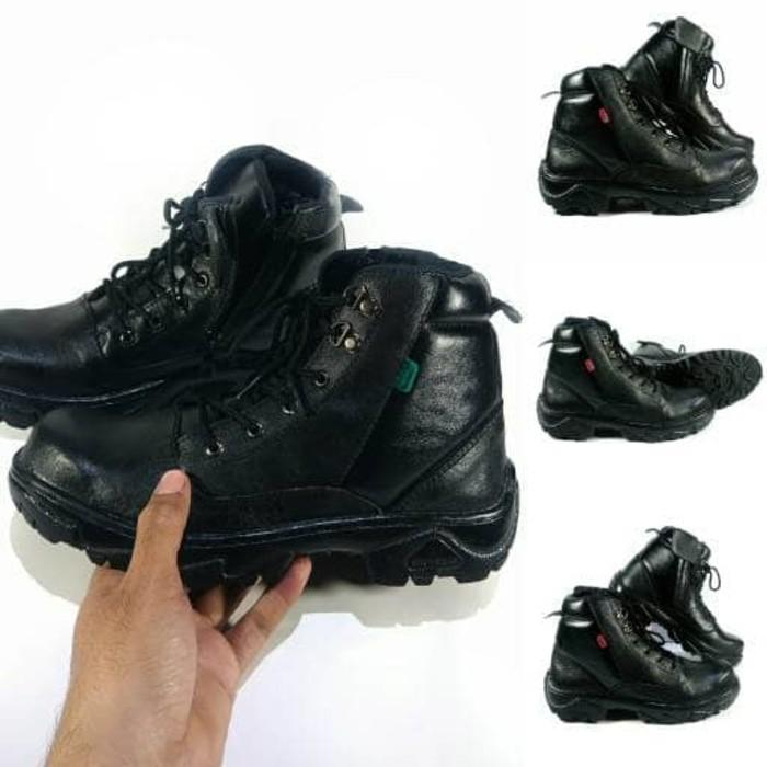 Promo Sepatu Boots Safety Pria Wanita Kulit Asli Kickers PDL Bagus Murah Gratis Ongkir