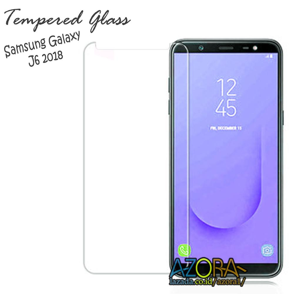 Tempered Glass Samsung Galaxy J6 2018 Screen Protector Pelindung Layar Kaca Anti Gores - Bening