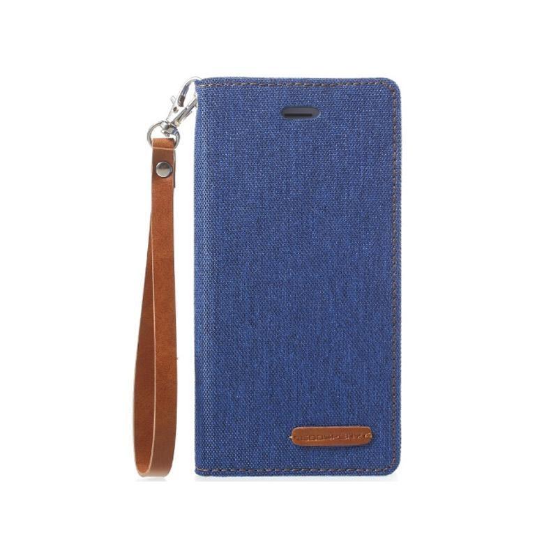 Mercury New Canvas Flip Case for Apple iPhone 6 Plus / 6s Plus - Blue