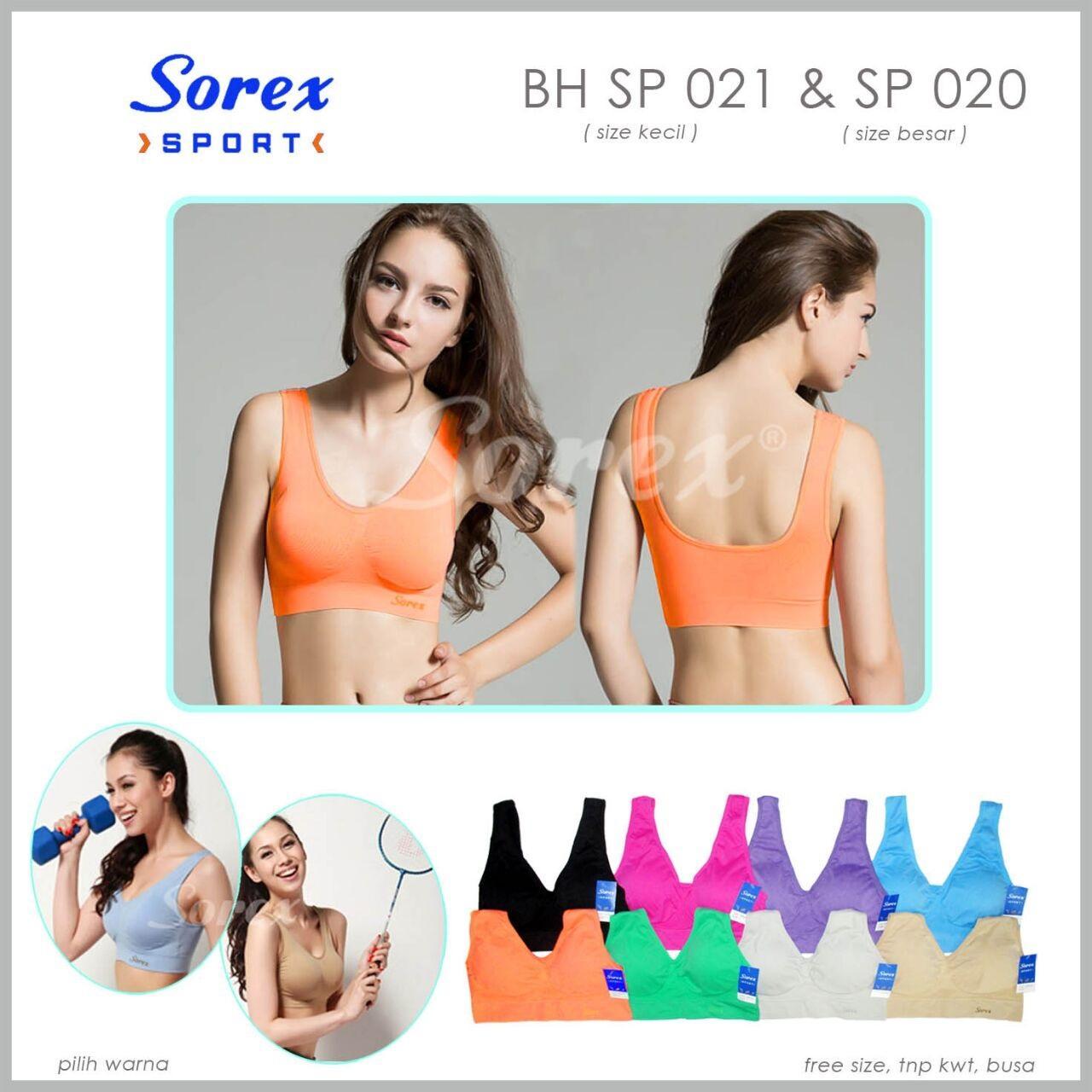 Bra Sport Sorex Sp020 & Sp021 - All Size - Warna Random By Nimari Underwear.