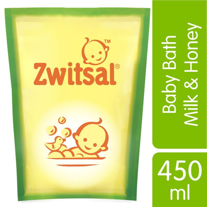 ZWITSAL BABY BATH MILK & HONEY NATURAL 450ML