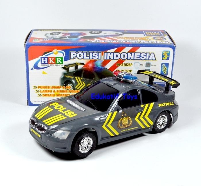 Mainan Mobil Polisi Jalan Raya- Bump & Go Ada Suara Sirine Dan Lampu
