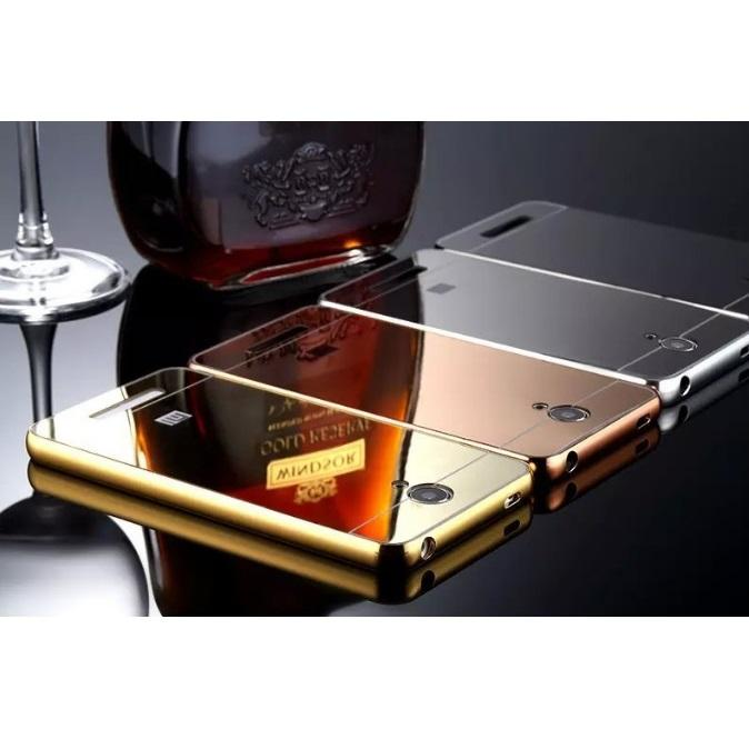 HOT DEALS!!  Aluminium Tempered Glass Hard Case Casing Cover Hp Xiaomi Redmi Note 2 TERMURAH / MURAH / PACKING RAPIH / PENGIRIMAN CEPAT