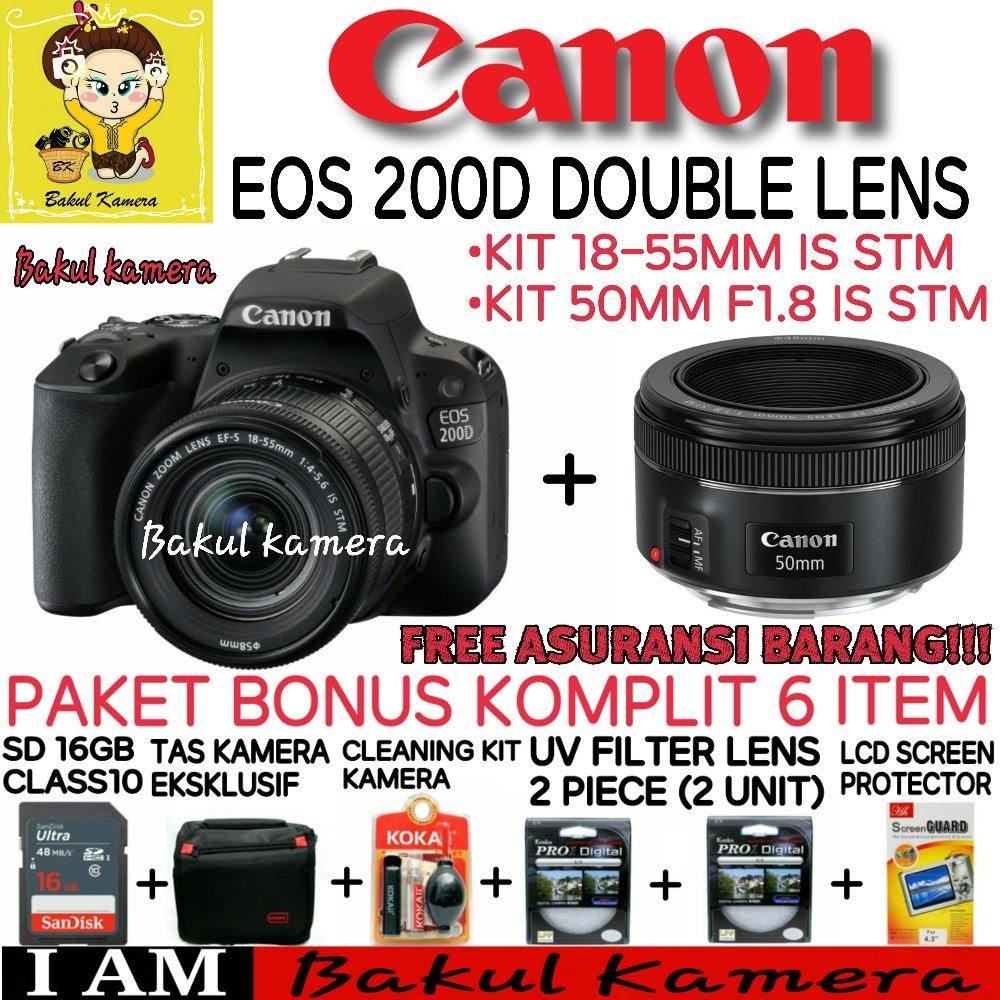 CANON EOS 200D KIT 18-55MM IS STM & EF 50MM F1.8 STM