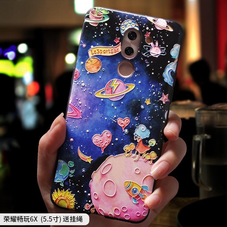HUAWEI1 Honor 6 X Casing HP Honor 6X Model Wanita bermain 6A Silikon anti jatuh Bungkus Penuh Korea Selatan kepribadian kreatif Imut