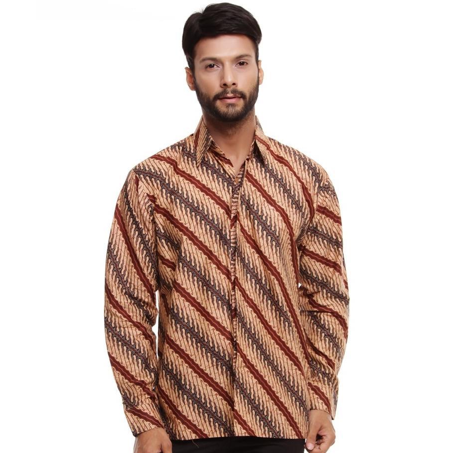Baju Kemeja Batik Lengan Panjang Motif Paduan Khas Indonesia