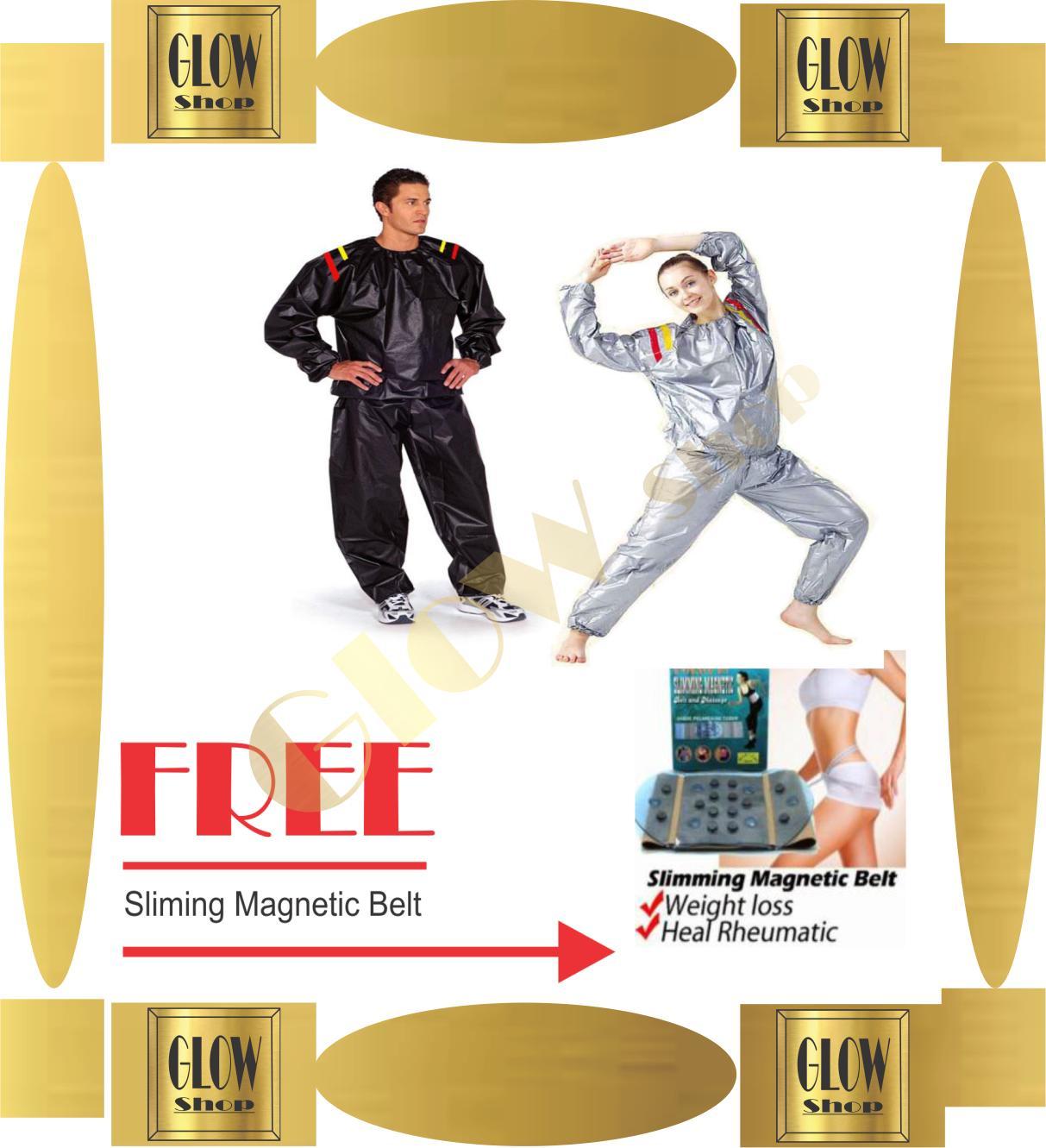 Buy Sell Cheapest Slimming Magnetic Belt Best Quality Product Sauna Pelangsing Dan Pembakar Lemak Glow Shop Sport Suit Baju Silver Nikita
